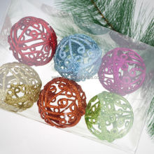 2014 Hot item! Glittered Plastic Ball Christmas ornament