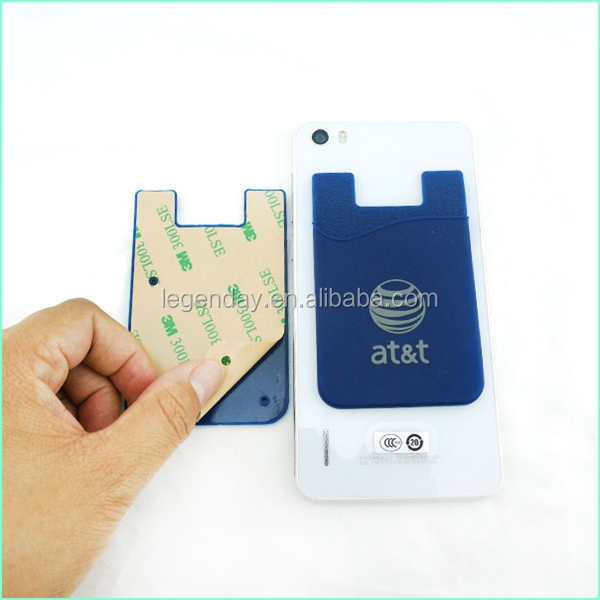 Brands Compatible Credit Card Phone Holder 3M Silicone Sticker