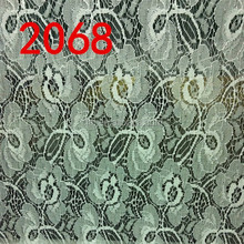 white color beautiful African lace fabric for curtain TH-2068