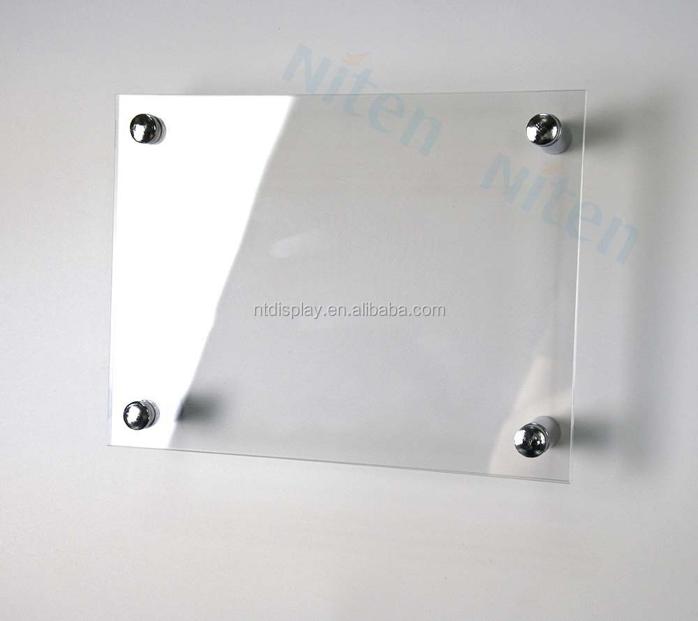 Sale Acrylic Round Glass Display Case / Sign Holder Acrylic Display Stand