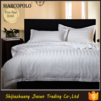 Direct Factroy Made Stripe Fabric Wholesale 100% Cotton Hotel Bedding Sets