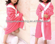 100 cotton terry kids nice bathrobe