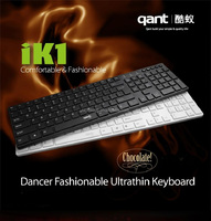 2015 Best Wired Ultra Slim/ Ultra Silent USB Wired Multimedia Chocolate Keyboard with