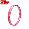 Universal Aftermarket Motorcycle Spoke Alloy Rim, Durable Red Motorcycle Aluminum Wheels