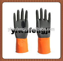 double color industrial and household Latex gloves waterproof CE certification