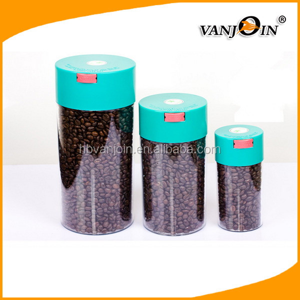 Food Preservative Plastic Sealed Vacuum Storage Round Container/jar with Lid