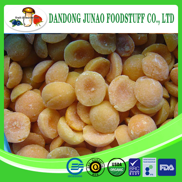 IQF yellow apricot halves peeled fresh apricots for sale