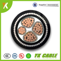 Low voltage steel wire armored all kinds of 50mm 95mm xlpe 4 core armoured power cable