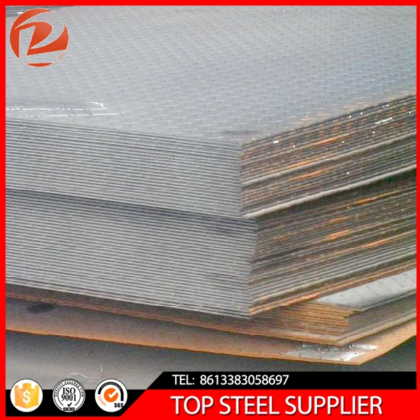 hot rolled steel plate/Good price for hot rolled mild carbon steel plate/checkered steel sheet