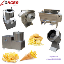 Manufacturer Plant Commercial Used Potato Chip Maker Equipment Sweet Potato Chips Making Machine For Sale