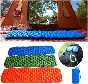 Portable Backpacking Outdoor Sleeping Pad Camping Mat 40D Nylon Inflatable Ultralight Compact Waterproof Air Camping Pad