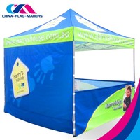 custom trade show advertise quick fold metal frame tent