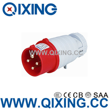 Ordinary 16amp industrial 4pin electric plug with CEE/IEC form