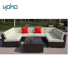 7pcs Outdoor sectional sofa set cheap patio furniture sofa ratan outdoor