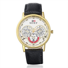 Best Selling Products Vogue Quartz Colorful Leather Wrist Watch SOXY003