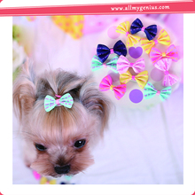 Best-selling pet hair clips ribbon bows with clip ,je0FLy hair clips bows for dogs