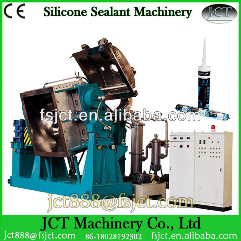 Machine for making silicone adhesive caulk