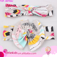 Lovely Newborn Baby Girls Soft Cotton Bow Fashion Infant Birthday Gift Boutique Elastic Feather Rabbit Ear Headband