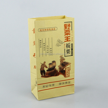 Heat seal Custom new product creped tissue Chestnut paper bag