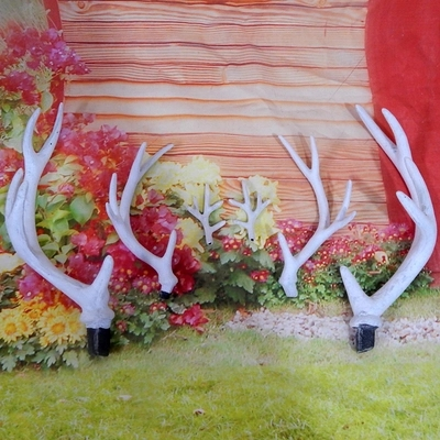 Hot sale animal decoration horns plastic deer antler