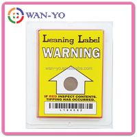 Leaning Label Packaging Indicator
