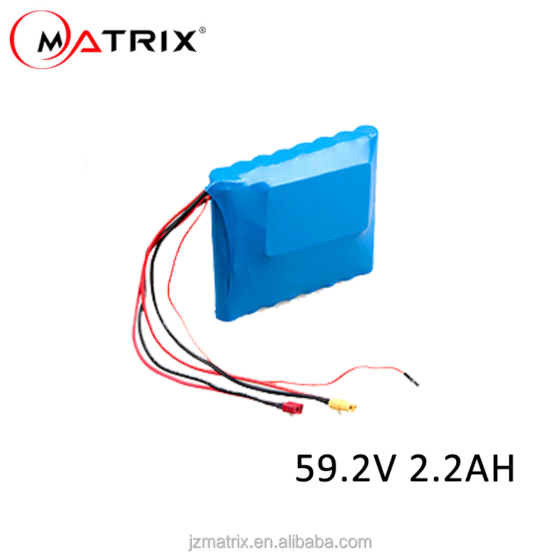 60V 2200mAh Rechargeable Lithium Ion 18650 Battery pack for balance scooter/self balance hoverboard/E-bike/Solar system