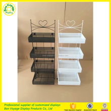 Free standing metal wire merchandise display rack
