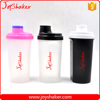 24oz Protein Shaker Bottle Joyshaker Drinking Water Bottle, Black Color Sport Plastic Shaker Mixer