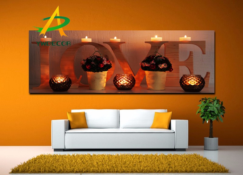 light up romantic love canvas painting home decoration gift led light fabric picture wall art led painting