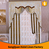 luxury curtain cheap hotel curtains 100% polyester blackout curtain