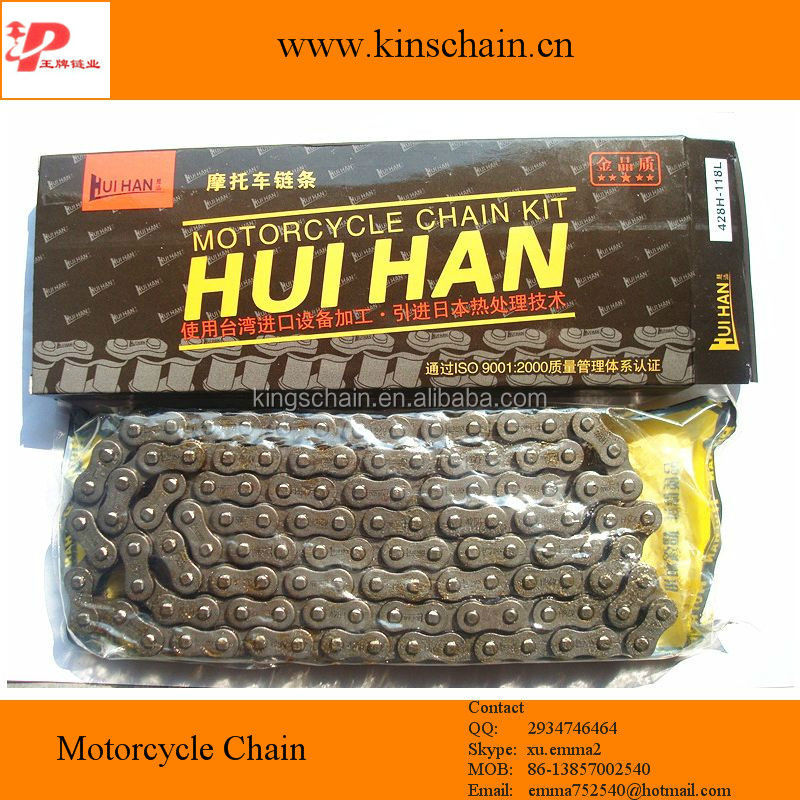 428H 4 side punch reinforced motorcycle chain, motor accessories 428H
