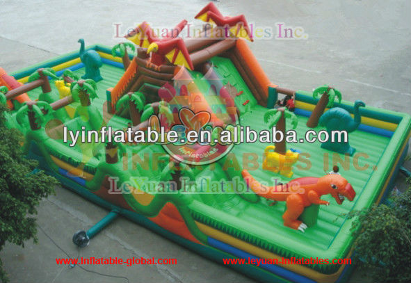 Large inflatable fun city/ best quality inflatable bouncer combo en14960