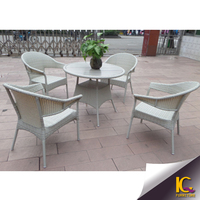 outdoor furniture patio garden waterproof rattan product dining table and chair