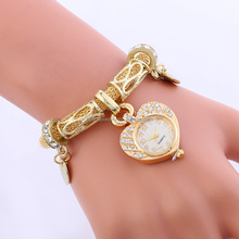 Fashion Ladies Bracelet Watches Woman Heart Pendant watch BWL269
