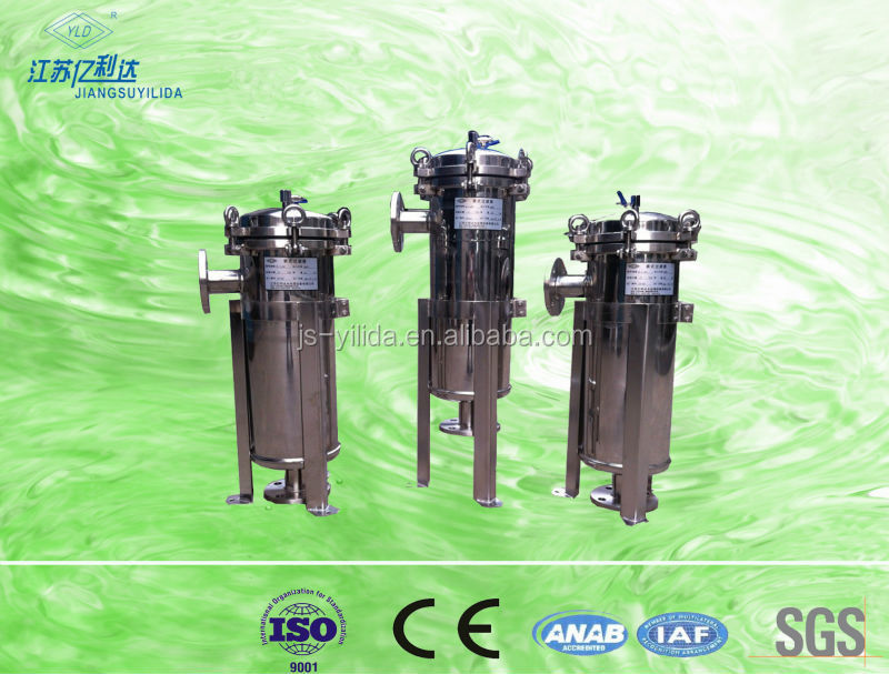 high volume/large capacity bag filter/water filter for chemical industry