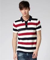 2015 apparel wholesale Cheap Price For Men's custom striped Polo Shirt Polo Tshirt