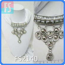 fashion alloy beaded scarf necklace