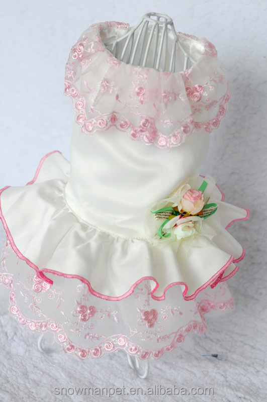 New design pet skirt pet dog wedding dress high-end customized dog dress clothes