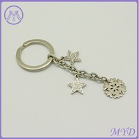 Fashion star dangle stainless steel key chain jewelry