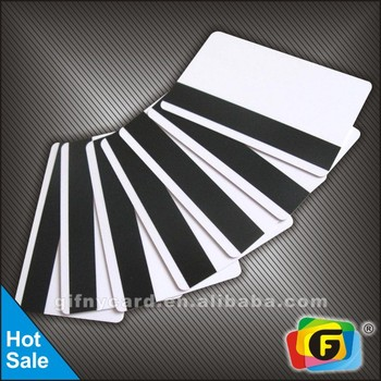 Top selling blank pvc magnetic strip card cr80