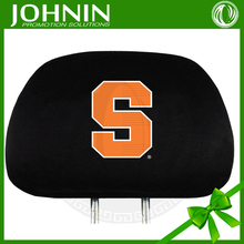 polyester excellent quality advertising custom headrest cover for car