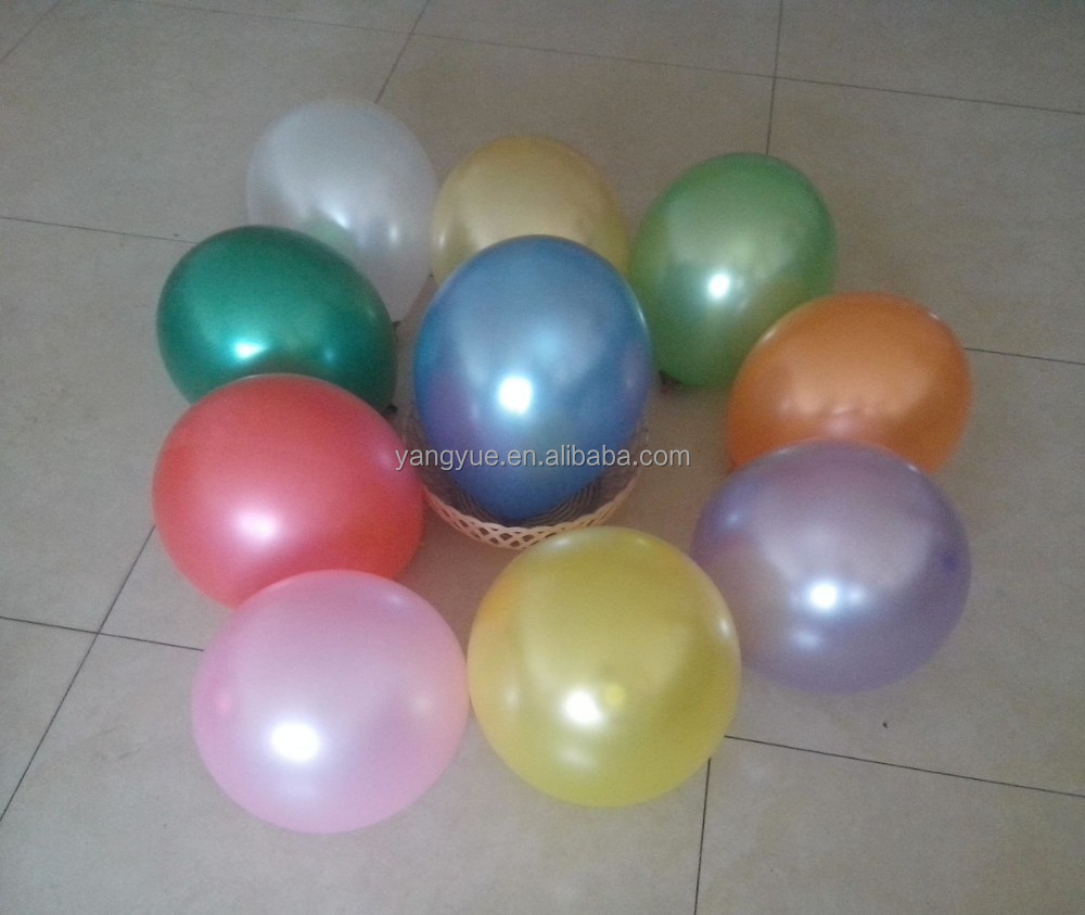 party decoration 12 inch round pearl metallic helium color balloon metalized