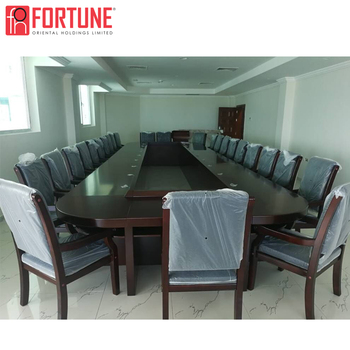 FOH brand MDF 22 people conference table and chair project