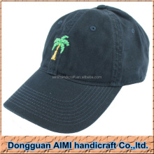 AIMI Needlepoint Palm Tree Emrboidery Hats, Polo Hats For Men, Six Panels