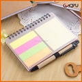 Plastic cover/krafts cardboard cover with sticky note for gift and promotion