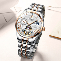Hollow Flywheel Dial Watch Stainless Steel Band 30 ATM Waterproof Men Automatic Mechanical Watch
