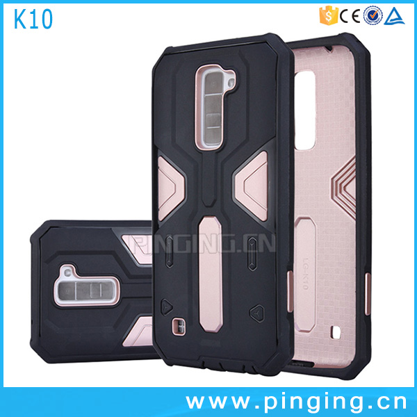 Hot Selling shockproof design hybrid mobile phone shell for LG <strong>K10</strong> back cover