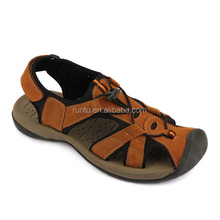 Latest model Arabic 2016 beach summer leather men's sandals shoes fashion sport flat sandal for men