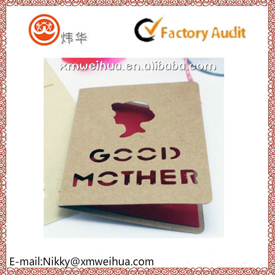 2015 customized hollow out Mother's Day greeting card