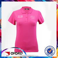 Fit Dry Custom Design Tailor Made Sublimation Golf Women Polo Shirt with Label Logo and Picture